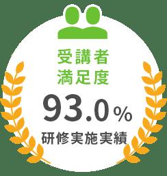 受講者満足度93.0%研修実施実績